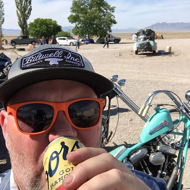 Choppers, beer and weirdness in the desert