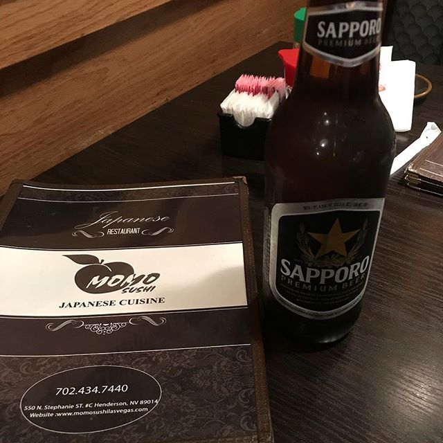 Some Japanese beer to wash down my sushi with my