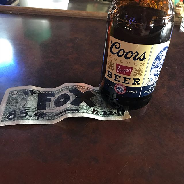 Having a Colorado Cool-Aid for my dad. Put a dollar