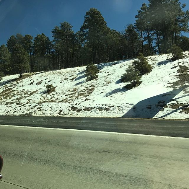 Got to see a little snow on trip to New