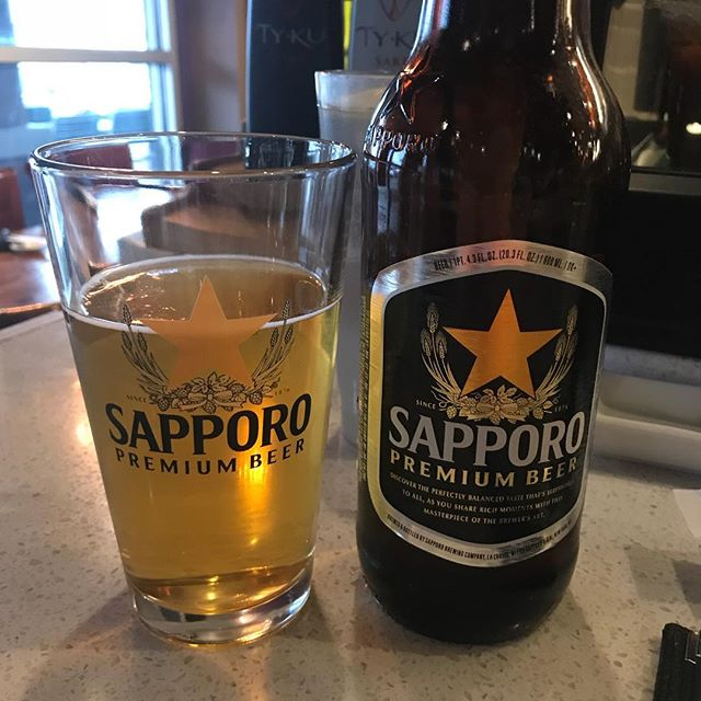 Sushi Night!! What goes well with Sushi? Sapporo of course!