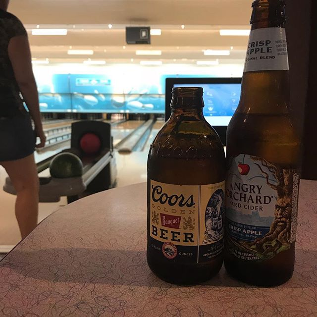 Bowling and refreshments with the wifey.