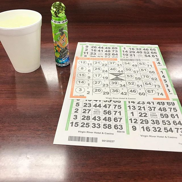 Dinner, then bowling and now it's BINGO TIME!!!