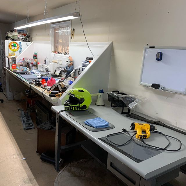 No Super Bowl party or watching today. Been working on straightening up the pig sty I called a work bench today. Moved my gun cleaning gear over to a table. Hooked a new light over the gun cleaning area. And then I set up a tv and Apple TV so I can watch YouTube or Netflix when I out working on Guns and what not!