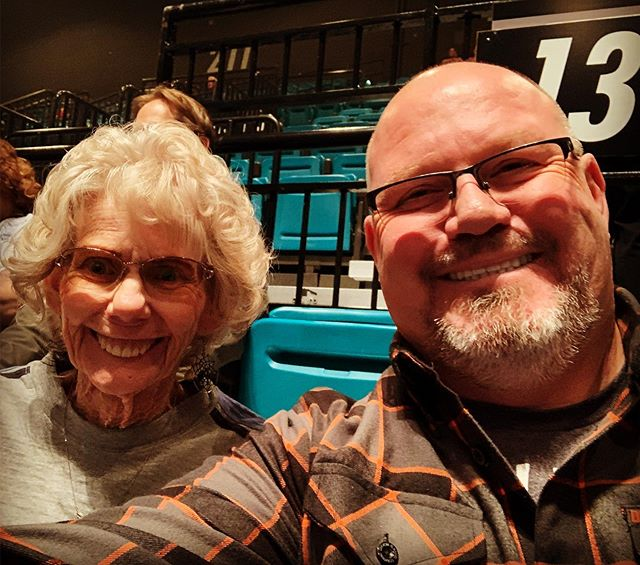 Concert time with Mom!