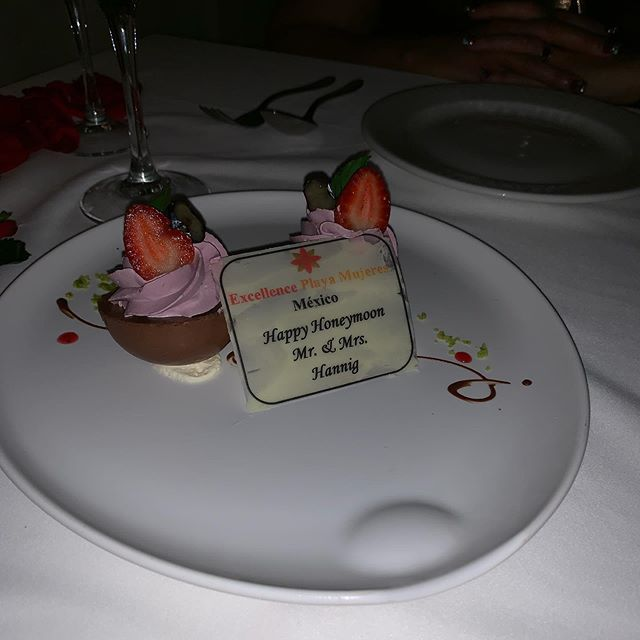 A special treat tonight at dinner for our Anniversary