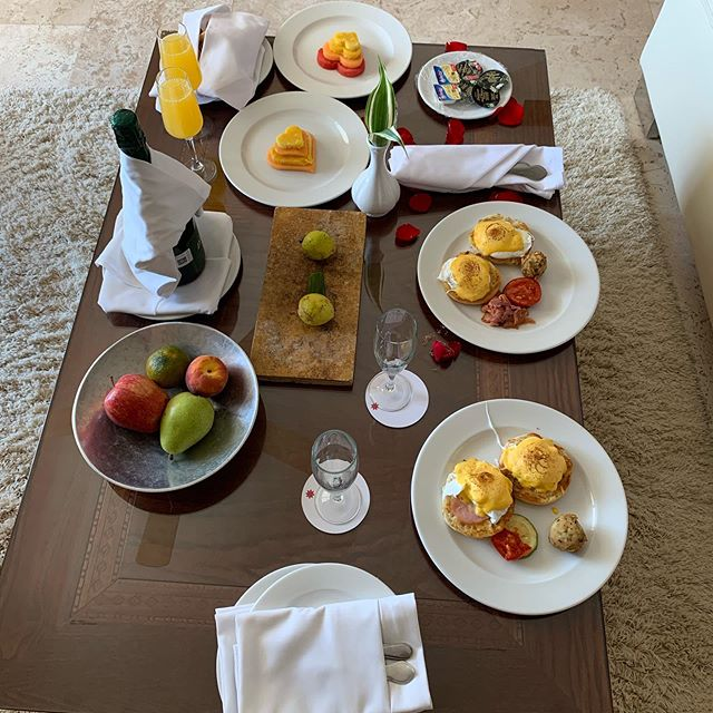 Our breakfast in bed for our honeymoon/1st anniversary