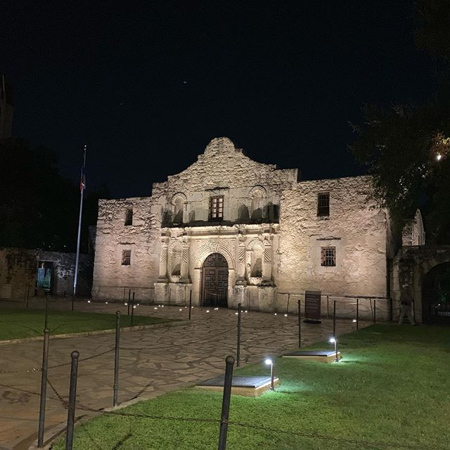 Snapped a shot of the Alamo on my back to